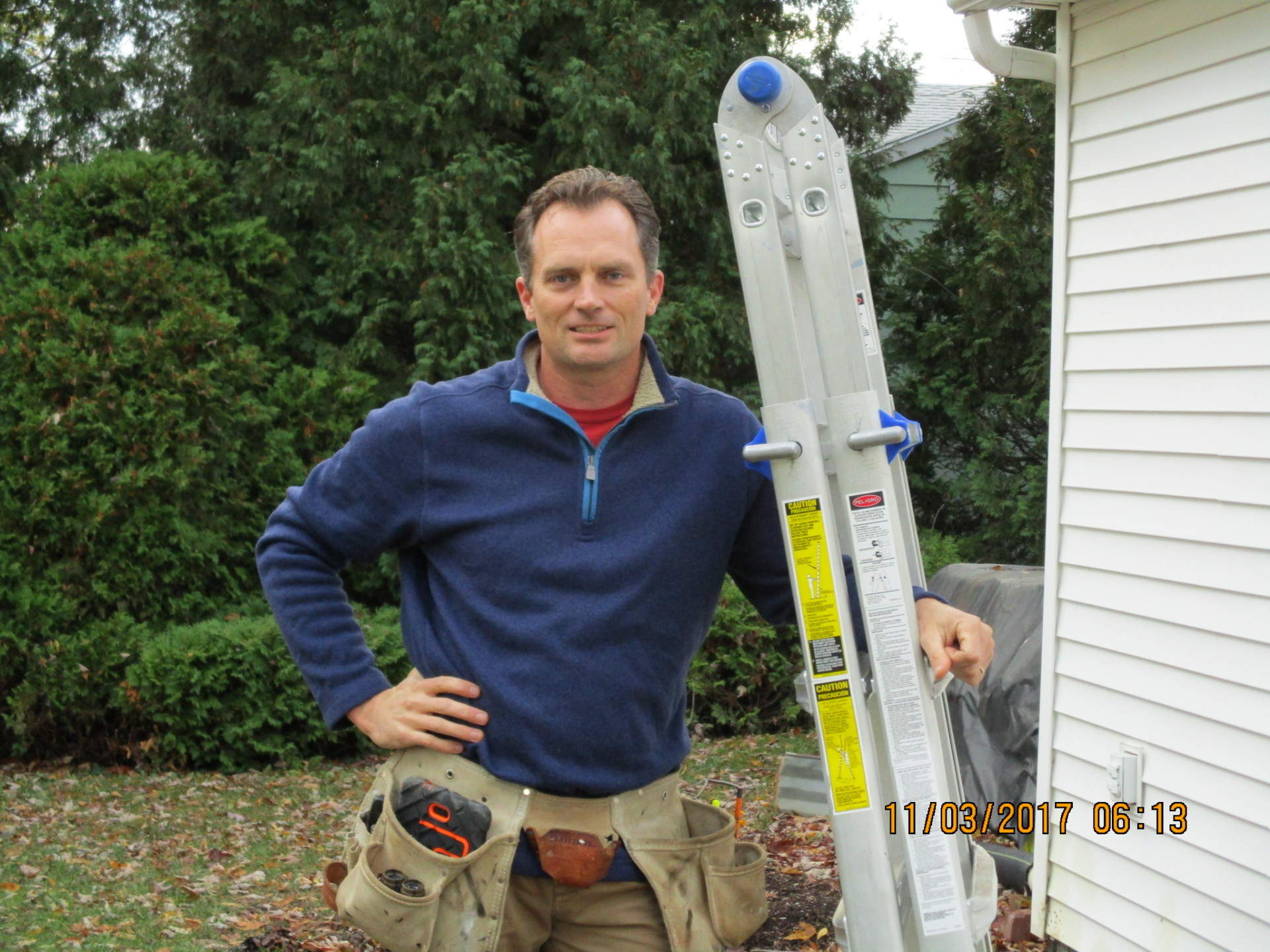 Home Inspector Bret Burrows inspecting parts of a home